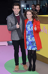 Derek Moran and Jen Pringle  attend The Premiere of Peppa Pig: The Golden Boots at The Odeon, Leicester Square, London on Sunday 1 February 2015