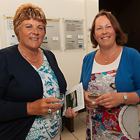 Marjarie Ahern from Miltown Malbay and Laura Garvey from Ennis at the Launch of the 2014 Merriman Summer School in Glór