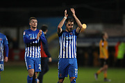 Nicky Deverdics of Hartlepool United in action during the EFL Sky Bet League 2 match between Cambridge United and Hartlepool United at the Cambs Glass Stadium, Cambridge, England on 14 March 2017. Photo by Harry Hubbard.