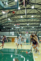 06 December 2017:  Kendall Sosa at the line during an NCAA women's basketball game between the Wheaton Thunder and the Illinois Wesleyan Titans in Shirk Center, Bloomington IL