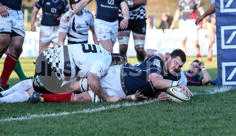 James Phillips scores a try during the B&amp;I Cup match between London Scottish &amp; Pontypridd at Richmond, Greater London on 13th December 2014<br /> <br /> Photo: Ken Sparks | UK Sports Pics Ltd<br /> London Scottish v Pontypridd, B&amp;I Cup, 13th December 2014<br /> <br /> &copy; UK Sports Pics Ltd. FA Accredited. Football League Licence No:  FL14/15/P5700.Football Conference Licence No: PCONF 051/14 Tel +44(0)7968 045353. email ken@uksportspics.co.uk, 7 Leslie Park Road, East Croydon, Surrey CR0 6TN. Credit UK Sports Pics Ltd