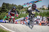 11 Boys #195 (HUNT Taylor) GBR at the 2018 UCI BMX World Championships in Baku, Azerbaijan.