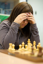 Spela Kolaric in action during the Slovenian National Chess Championships in Ljubljana on August 9, 2010.  (Photo by Vid Ponikvar / Sportida)