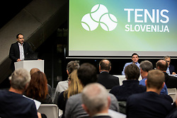 Andrej Slapar, candidate for a new president during General Assembly of Slovenian Tennis Federation, on December 12, 2018 in Kristalna palaca, Ljubljana, Slovenia. Photo by Vid Ponikvar / Sportida