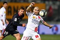 FOOTBALL - FRENCH CHAMPIONSHIP 2009/2010 - L1 - AS NANCY v PARIS SAINT GERMAIN - 13/02/2010 - PHOTO ERIC BRETAGNON / DPPI - DAMIAN MACALUSO (ASNL)