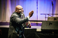 Bishop TD Jakes delivering his message.