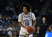 Nov 6, 2019; Los Angeles, CA, USA; UCLA Bruins guard Tyger Campbell (10) in the second half against Long Beach State at Pauley Pavilion. UCLA defeated Long Beach State 69-65.