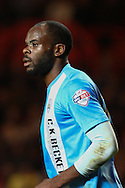 Jean-Yves Mvoto of Barnsley during the Sky Bet Championship match at The Valley, London<br /> Picture by David Horn/Focus Images Ltd +44 7545 970036<br /> 15/04/2014