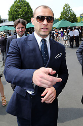 Jude Law  arriving at the Wimbledon Tennis Championships in London, Friday, 5th July 2013<br /> Picture by Stephen Lock / i-Images<br /> File photo - Jude Law NOTW Hacking.<br /> Jude Law is told relative sold story of girlfriend Sienna Miller's affair with Daniel Craig. Picture filed Tuesday, 28th January 2014.