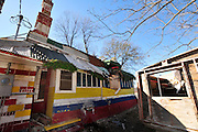 Folk Art icon Miss Margaret's Grocery in dire need of repairs and preservation on Highway 61N in Vicksburg MS. Jan 25 ,2011. Photo©Suzi Altman