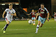 Milton Keynes Dons forward, on loan from Southampton, Sam Gallagher  races onto the ball during the Sky Bet Championship match between Burnley and Milton Keynes Dons at Turf Moor, Burnley, England on 15 September 2015. Photo by Simon Davies.