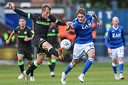 Forest Green Rovers George Williams(11) controls the ball during the EFL Sky Bet League 2 match between Macclesfield Town and Forest Green Rovers at Moss Rose, Macclesfield, United Kingdom on 29 September 2018.