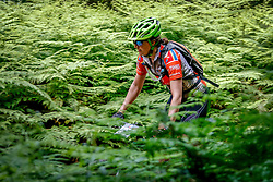 Raine Lidbetter rides through the lush ferns under the Garden Route forest canopy during the Cape Pioneer Trek, stage 2 on 18th of October 2016<br /> <br /> <br /> Photo by: Oakpics/Cape Pioneer Trek/SPORTZPICS<br /> <br /> <br /> {dem16gst}