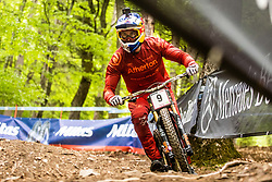 Gee Atherton of Great Britain during Mercedes-Benz UCI Mountain Bike World Cup competition final day in Bike Park Pohorje, Maribor on 28th of April, 2019, Slovenia.  . Photo by Grega Valancic / Sportida