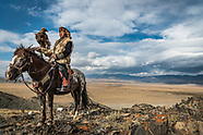 Riding with the Eagle Hunters of the Altai mountains in Mongolia