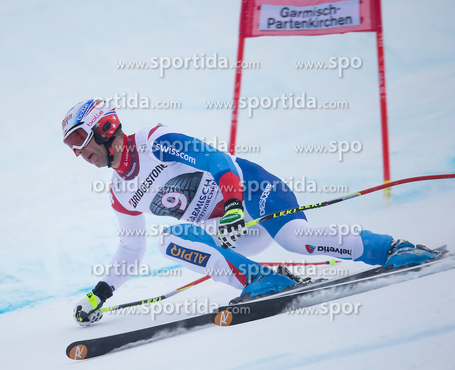 23.02.2013, Kandahar, Garmisch Partenkirchen, AUT, FIS Weltcup Ski Alpin, Abfahrt, Herren, im Bild Didier Defago (SUI) // Didier Defago of Switzerland in action during the mens Downhill of the FIS Ski Alpine World Cup at the Kandahar course, Garmisch Partenkirchen, Germany on 2013/02/23. EXPA Pictures © 2013, PhotoCredit: EXPA/ Johann Groder