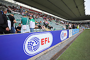 The new English Football League logo at Home Park stadium, Plymouth before the EFL Sky Bet League 2 match between Plymouth Argyle and Luton Town at Home Park, Plymouth, England on 6 August 2016. Photo by Graham Hunt.