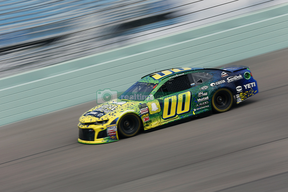 November 17, 2018 - Homestead, Florida, U.S. - Landon Cassill (00) takes to the track to practice for the Ford 400 at Homestead-Miami Speedway in Homestead, Florida. (Credit Image: © Justin R. Noe Asp Inc/ASP)