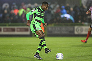 Forest Green Rovers Dale Bennett(2) on the ball during the EFL Sky Bet League 2 match between Forest Green Rovers and Lincoln City at the New Lawn, Forest Green, United Kingdom on 12 September 2017. Photo by Shane Healey.