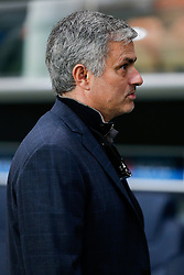 Chelsea Manager Jose Mourinho looks on - Photo mandatory by-line: Rogan Thomson/JMP - 07966 386802 - 17/02/2015 - SPORT - FOOTBALL - Paris, France - Parc des Princes - Paris Saint-Germain v Chelsea - UEFA Champions League, Last 16, First Leg.