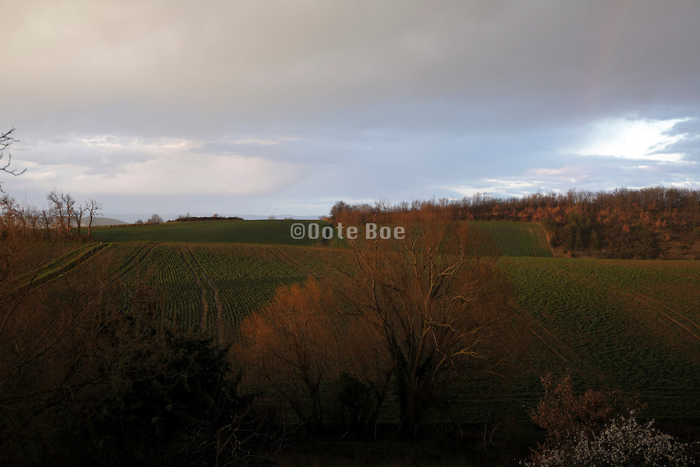 atmospheric landscape view in South West France Languedoc Aude