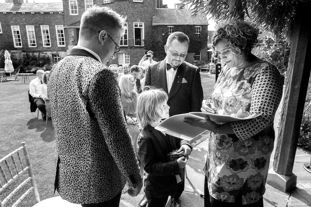 Michael and Adrian wedding<br /> Photograph: Rosie Hallam