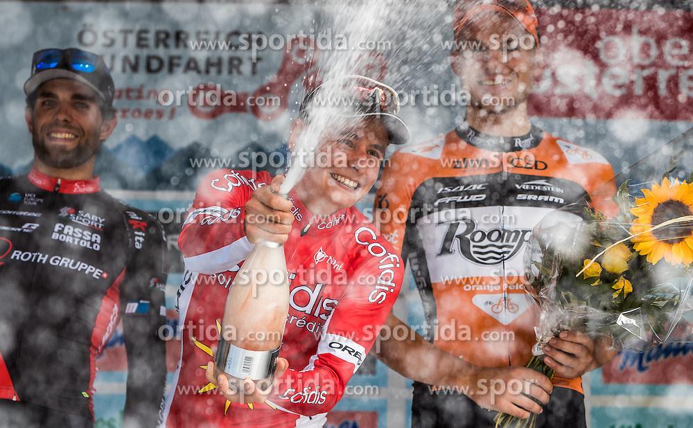 04.07.2016, Steyr, AUT, Ö-Tour, Österreich Radrundfahrt, 2. Etappe, Mondsee nach Steyr, im Bild Andrea Pasqualon (ITA, Team Roth, 2. Platz), Clement Venturini (FRA, Cofidis, Solution Credits, Sieger), Ginneken Sjoerd Van (NED, Roompot Oranje Peloton, 3. Platz) // Andrea Pasqualon (ITA, Team Roth, 2. Platz), Clement Venturini (FRA, Cofidis, Solution Credits, Sieger), Ginneken Sjoerd Van (NED, Roompot Oranje Peloton, 3. Platz) during the Tour of Austria, 2nd Stage from Mondsee to Steyr, Austria on 2016/07/04. EXPA Pictures © 2016, PhotoCredit: EXPA/ JFK
