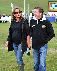 Image ©Licensed to i-Images Picture Agency. 05/07/2014. Barbury, United Kingdom. Day 3. Alice Plunkett (Mrs William Fox-Pitt) & AP McCoy during JCB Challenge. Picture by  i-Images