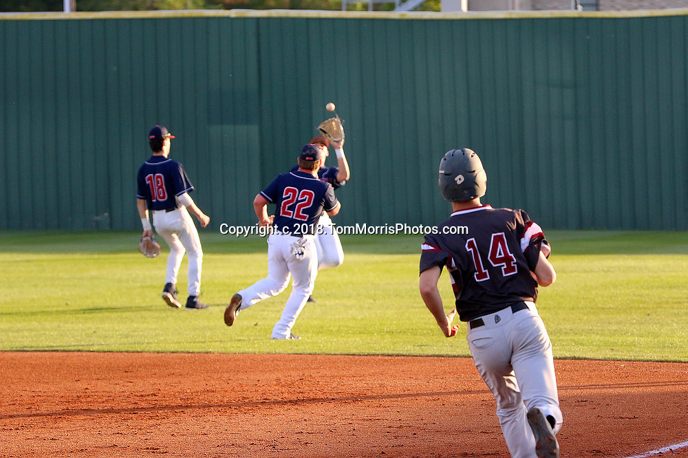 The West Monroe Rebels (14-14) lost to Ouachita 3-2 at Aulds Field, West Monroe, La. on Wednesday April 11, 2018 in a District 2-5A  game. Tom Morris Photo.  c.2018 TomMorrisPhotos.com. All Rights Reserved. For editorial use only. No personal downloads allowed. Private use can be purchased. (318.237.3030)