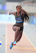 Catarine Ibarguen (COL) wins the women's triple jump at 48-6 3/4 (14.80m) during the IAAF Diamond League Shanghai 2018 in Shanghai, China, Saturday, May 12, 2018. (Jiro Mochizukii/Image of Sport)