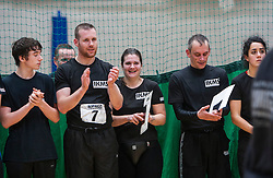 P1 students at the end. Franklyn Hartkamp takes the Institute Of Krav Maga Scotland grading today at Stirling.<br /> &copy;Michael Schofield.