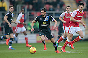 Jason Lowe (Captain) (Blackburn Rovers) during the EFL Sky Bet Championship match between Rotherham United and Blackburn Rovers at the AESSEAL New York Stadium, Rotherham, England on 11 February 2017. Photo by Mark P Doherty.