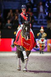 Dujardin Charlotte (GBR) - Valegro<br /> Lap of honour <br /> Reem Acra FEI World Cup™ Dressage Final 2013/2014<br /> Lyon 2014<br /> © Dirk Caremans