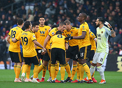 October 6, 2018 - London, England, United Kingdom - London, England - October 06:.Wolverhampton Wanderers' Conor Coady gives his orders out before kick off.during Premier League between Crystal Palace and Wolverhampton Wanderers at Selhurst Park stadium , London, England on 06 Oct 2018. (Credit Image: © Action Foto Sport/NurPhoto/ZUMA Press)