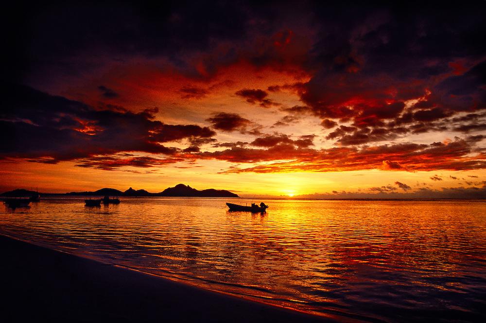 Sunset from Tokoriki Island Resort, Mamunucas, Fiji Islands