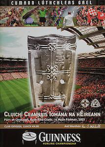 All Ireland Senior Hurling Championship - Final,.14092003AISHCF,.14.09.2003, 09.14.2003, 9th September 2003,.Senior Kilkenny 1-14, Cork 1-11,.Minor Kilkenny 2-16, Galway 2-15,..