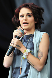 © Licensed to London News Pictures. 08/07/2012. London, UK. Cher Lloyd  at the Wireless Festival in Hyde park  London July 6 - 8 2012  Photo credit : ALAN ROXBOROUGH/LNP
