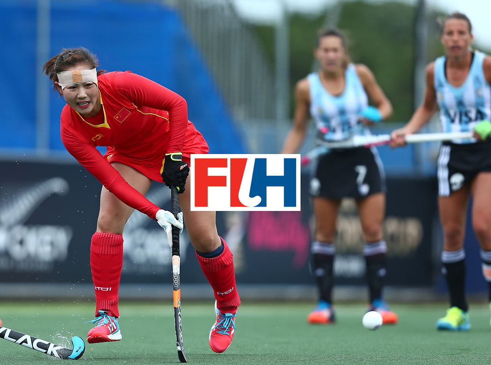 New Zealand, Auckland - 18/11/17  <br /> Sentinel Homes Women&rsquo;s Hockey World League Final<br /> Harbour Hockey Stadium<br /> Copyrigth: Worldsportpics, Rodrigo Jaramillo<br /> Match ID: 10294 - ARG vs CHN<br /> Photo: