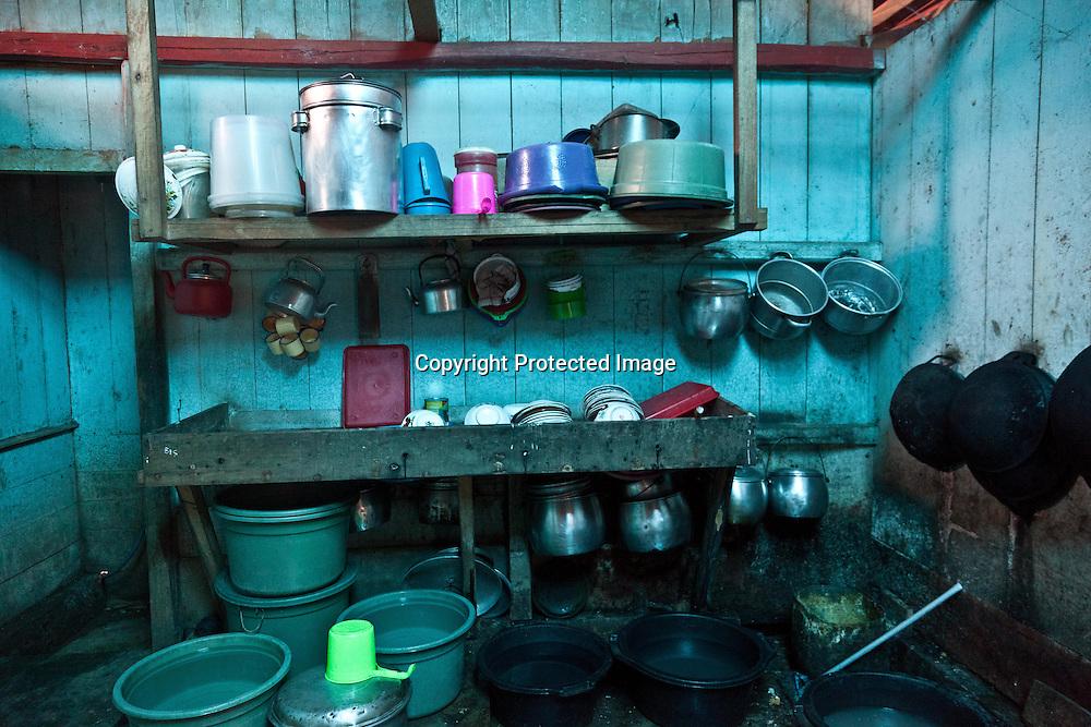 INDONESIA, Flores Archipelago, Manggarai country; traditional cafe