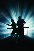 Silhouette of Dancers in Nightclub