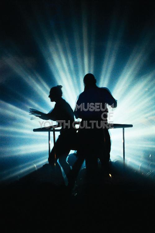 Silhouette of Dancers in Nightclub