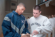 17938Air Force ROTC Warrior Run...2nd LT James Erkard III, and Cadet 3rd Class Jonathon Cozad