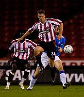 Photo: Jed Wee.<br /> Sheffield United v Birmingham City. Carling Cup. 24/10/2006.<br /> <br /> Sheffield United's Craig Short.