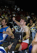 Birmingham, GREAT BRITAIN, Men;s open silver medallist, Alan CAMBPELL celerbrates second place at the British Indoor Rowing Championships, National Indoor Arena, Birmingham, ENGLAND. 12/11/2006, [Photo, Peter Spurrier/Intersport-images].....