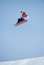 February 19, 2018 - Pyeongchang, South Korea - YUKA FUJIMORI of Japan competes in Women's Snowboard Big Air  qualifications Monday, February 19, 2018 at the Alpensia Ski Jumping Centre at the Pyeongchang Winter Olympic Games. The sport is making it's first appearance as an Olympic sport. Photo by Mark Reis, ZUMA Press/The Gazette (Credit Image: © Mark Reis via ZUMA Wire)
