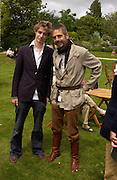 Jeremy Irons and his son Max Irons, Cartier Style Et Luxe, Goodwood, 27 June 2004. SUPPLIED FOR ONE-TIME USE ONLY-DO NOT ARCHIVE. © Copyright Photograph by Dafydd Jones 66 Stockwell Park Rd. London SW9 0DA Tel 020 7733 0108 www.dafjones.com