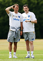 Fotball<br /> Foto: Colorsport/Digitalsport<br /> NORWAY ONLY<br /> <br /> Football<br /> Portsmouth First Day Back At Training<br /> Portsmouth players come back for training with new Manager Steve Cotterill<br /> Portsmouth's Fitness Coach Chris Neville with Steve Cotterill<br /> 01/07/2010
