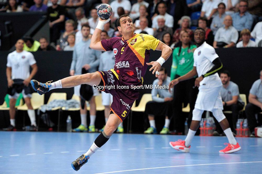 Mahmoud Gharbi - 26.04.2015 - Handball - Nantes / Paris Saint Germain - Finale Coupe de France<br /> Photo : Andre Ferreira / Icon Sport