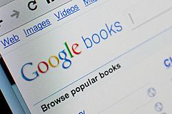 Detail of screen shot from website of Google books website