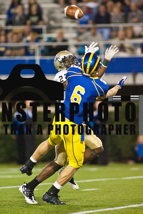 Delaware Wide receiver Mark Schenauer #6 can't handle the touchdown pass during a Week 6 NCAA football game against William & Mary...Delaware defeated William & Mary 21- 0 in front of 17, 808 fans at Delaware Stadium on Saturday Oct. 08, 2011 in Newark DE...(Monsterphoto/Saquan Stimpson)